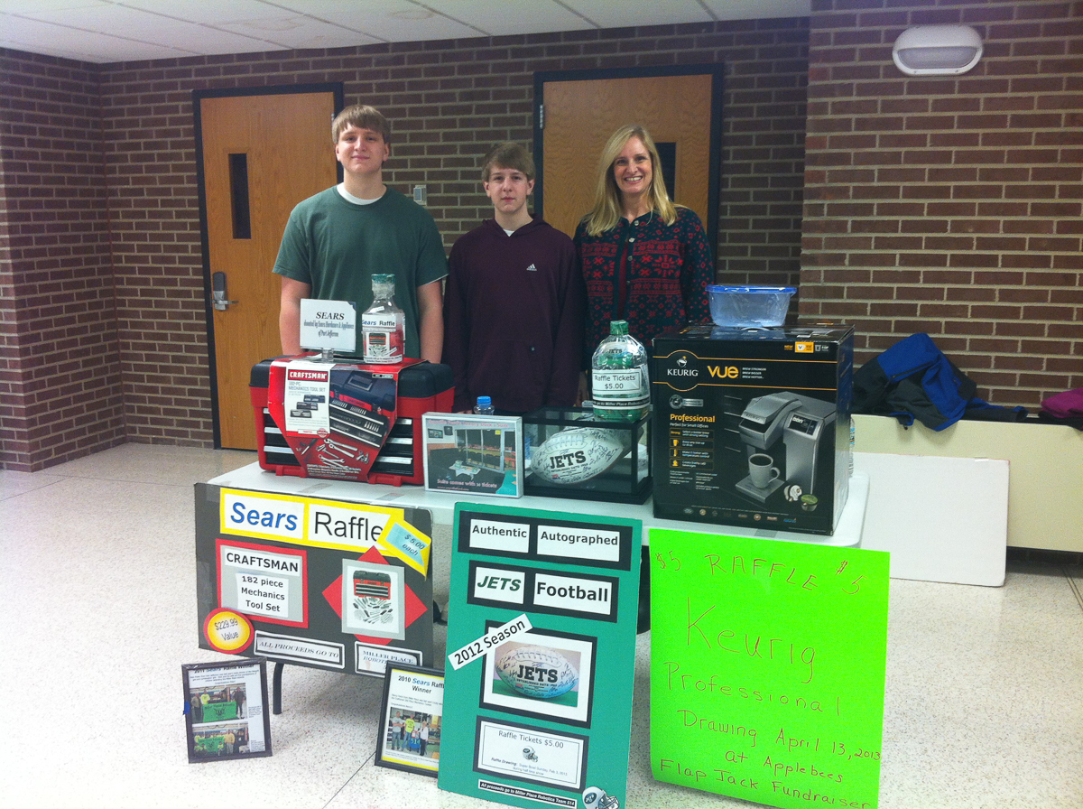 The Raffle Family  ~~  Hawking the wares for Team 514 FIRST Robotics Club