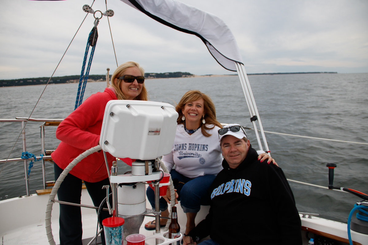 Deb and Dave on s/v Akula  ~~  got lucky and dodged the bad weather!!